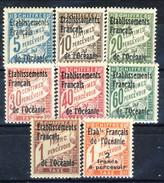 Oceania Tasse 1926-27 Serietta N. 1-8 MH Cat. € 22 - Postage Due