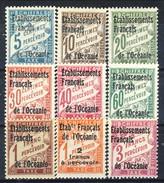 Oceania Tassse 1926-27 Serie N. 1-9 MH Cat. € 38 - Postage Due