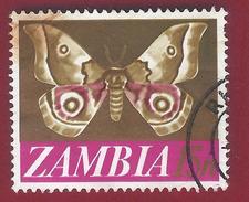 1968 - Zambia - Moth (Nudaurelia Zambesina) - Mi:ZM 45 - Used - Zambia (1965-...)