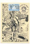 FRANCE => Carte Locale - Journée Du Timbre 1977 (enseigne) - AIX EN PROVENCE - Journée Du Timbre