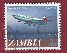 1968 - Zambia - Trident - Mi:ZM 41 - Used - Zambia (1965-...)