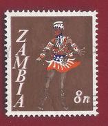 1968 - Zambia - Vimbuza Dancer - Mi:ZM 43 - Used -- - Zambia (1965-...)
