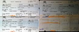 2007 - 3 BILLETS SNCB - BRUXELLES NIMES EN  FRANCAIS ET FLAMAND ALLER RETOUR  COULOIR FENETRE+ 1 SNCF ORLEANS PERPIGNAN - Chemins De Fer