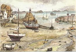CP LOGUIVY ( Côtes D'Armor ) - Marée Basse - Aquarelle De Robert LEPINE - Altri Comuni