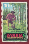 1972 - Zambia - Forrestry - Mi:ZM 82  - Used - Zambia (1965-...)