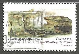 Sc. # 1477 Canada Day, Writing-on-Stone Park, Alberta Single Used 1993 K884 - 1952-.... Règne D'Elizabeth II