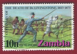 1973 - Zambia - David Livingstone (1813-1873) - Mi:ZM 105  - Used - Zambia (1965-...)