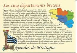 CP LEGENDES DE BRETAGNE - Les Cinq Départements Bretons - Bretagne