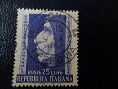 ITALIA  1952 SAVONAROLA  L. 25  USATO - 1946-60: Usati