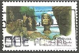 Sc. # 1481 Canada Day, The Rocks Park, New Brunswick Single Used 1993 K888 - 1952-.... Règne D'Elizabeth II