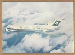 PAKISTAN INTERNATIONAL AIRLINES , TRIDENT 1E * VINTAGE POSTCARD *  * PAKISTAN - Avions