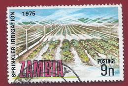 1975 - Zambia - Sprinkler Irrigation - Mi:ZM 160 - Used - Zambia (1965-...)