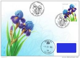 Latvia Lettland Lettonie 2013 (04) Flower Blume Fleur Iris Schwertlilien (addressed FDC) - Latvia