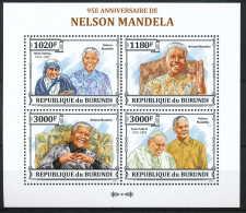 NB- BURUNDI 2013 - 95eme Anniversaire De Nelson Mandela - Nobel Prize Laureates