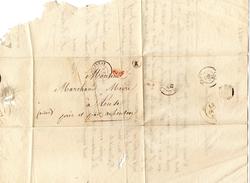 LETTRE Ancienne 1842 Ou PLI De CUMIERES Par EPERNAY MARNE Pour LEUZE Par AUBENTON AISNE - Postmark Collection (Covers)