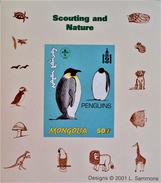 SCOUTISME - MANCHOTS EMPEREURS 2001 - NEUF ** - PH BLSCO02 - NON-DENTELE - RARE !! - Mongolia