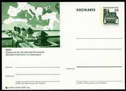 79362) BRD - Bildpostkarte P 89 - A25/190 - * Ungebraucht - 20Pf Lorsch - Aalen, Römische Wachtürme Im Limesmuseum - [7] Repubblica Federale
