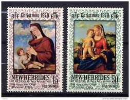 Nlles HEBRIDES - N° 302/3** - NOËL - English Legend