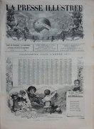 ORIGINAL ET ANCIEN JOURNAL LA PRESSE ILLUSTRÉE 1876 NOUVELLE ANNEE CALENDRIER - Journaux - Quotidiens
