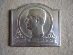 Medaille Bronze  Argenté Signé A Bonnetain Academie Des Beaux Art De Bruxelles 1934-1935 - Belgio