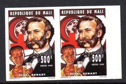 Mali 0716 Imperf Paire Croix-rouge , Henri Dunant