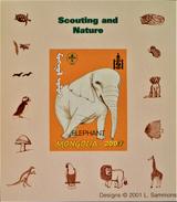 SCOUTISME - ELEPHANT 2001 - NEUF ** - PH BLSC006 - NON-DENTELE - RARE !! - Mongolia