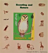 SCOUTISME - CHOUETTE 2001 - NEUF ** - PH BLSC008 - NON-DENTELE - RARE !! - Mongolia