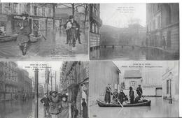 LOT 16 CARTES INONDATIONS PARIS   BON ENSEMBLE - Postcards