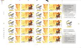 Thematiques Timbres Belgique Lot De 1 Planche De 10 Timbres Netfuture 2001 Equivalent 4.20 Euros - Nuovi