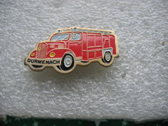 Pin's Du Vieux Camion Des Sapeurs Pompiers De La Commune De DURMENACH (Dépt 68) - Bomberos
