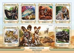 Guinee Bissau / Guinea-Bissau - Postfris / MNH - Sheet Bedreigde Dieren 2016 - Guinea-Bissau