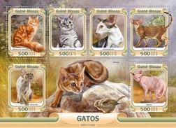 Guinee Bissau / Guinea-Bissau - Postfris / MNH - Sheet Katten 2016 - Guinea-Bissau
