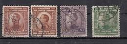 Yougoslavie  Roi Alexandre 1er   4 Valeurs - 1919-1929 Royaume Des Serbes, Croates & Slovènes