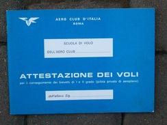 LIBRETTO ATTESTAZIONI DEI VOLI - Flight Certificates