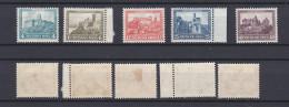 GERMAN REICH 1930 Charity. Castle Mint * B44-B48 (Mi.474-478) - Germania