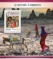 DJIBOUTI 2016 - Rotary, Donkey S/S. Official Issue