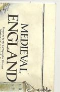 Cartina  Doppia   -- Medieval-- England   National Geografich Magazine-- 1979--  Regno Unito  Irlanda - Europa