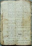 RENTE DU CURE ET GAGE DU MAITRE D'ECOLE   ANNEE 1718 - Manuscrits