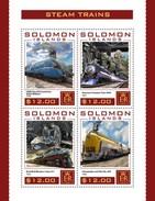 Solomon Eilanden / Solomon Islands - Postfris / MNH - Sheet Stoomtreinen 2016 - Solomoneilanden (1978-...)