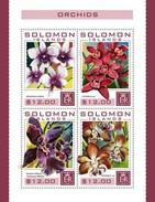 Solomon Eilanden / Solomon Islands - Postfris / MNH - Sheet Orchideëen 2016 - Solomoneilanden (1978-...)