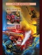 Solomon Eilanden / Solomon Islands - Postfris / MNH - Sheet Brandweerauto's 2016 - Solomoneilanden (1978-...)