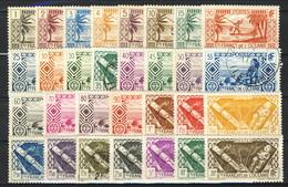 Oceania 1939-49 Lotto Di 30 Valori Diversi Della Serie N. 84-120  Misti MNH - Usati  Cat. € 55 - Unused Stamps