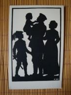 Scherenschnitt, Der Landwehrmann, Anna Schirmer, Ungelaufen - Guerre 1914-18