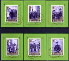 AJMAN De GAULLE 6 Blocs De Luxe Emis En 1972  (6 Sheets Of Luxe  MNH) Michel  655/60. Oblitérés, Used - De Gaulle (Generaal)