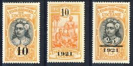 Oceania 1916 Serie N. 43-46 ( Manca N. 44) MLH Cat. € 54 - Unused Stamps