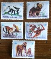 FUJEIRA, Singes, Monkeys, Monos . Michel  1532/36A. Neuf Sans Charniere, ** - Chimpancés
