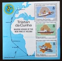 TRISTAN DA CUNHA Bateaux, Ship, Paquebot, Maiden Voyage. Yvert BF 22 ** MNH - Bateaux
