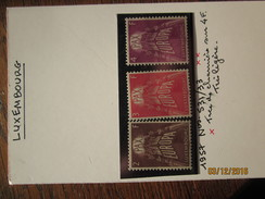 LE/AJ : LUXEMBOURG  EUROPA CEPT  -    N° 531 à 533  * .  Année 1957  . Neuf Avec Charnière .  Très Bon état - Europa-CEPT
