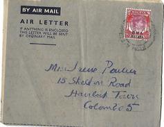 Lettre De Malaisie  Vers Colombo ( Ceylan ) - Malaysia (1964-...)