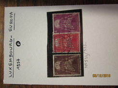 LE/AJ : LUXEMBOURG  EUROPA CEPT  -    N° 531 à 533  .  Année 1957  . Obltérés .  Très Bon état - Europa-CEPT